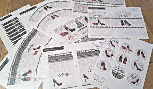 Kit déco Louboutin imprimé - Fêtes vous même
