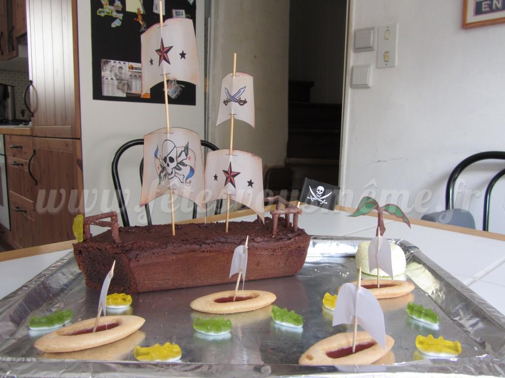 Gâteau Bateau Pirate - Fêtes vous même