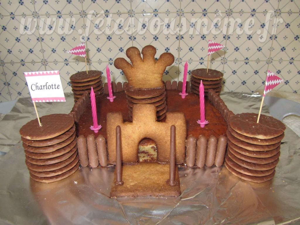 Gâteau Château Princesse & Chevalier - Fêtes vous même
