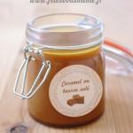 Caramel beurre salé et son étiquette en cadeau