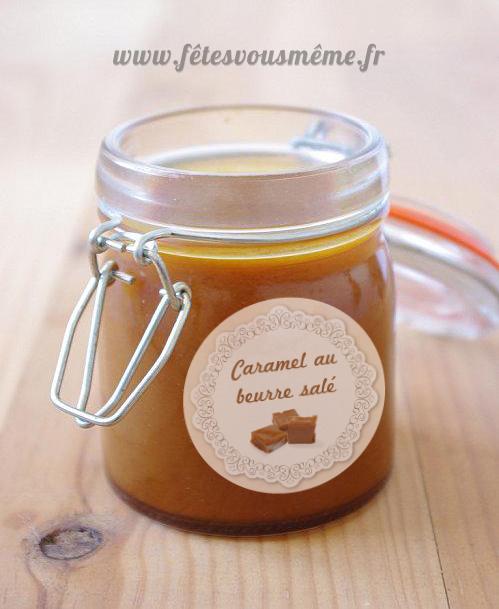 Caramel beurre sal et son tiquette en cadeau f tes vous m me - Faire du caramel maison ...