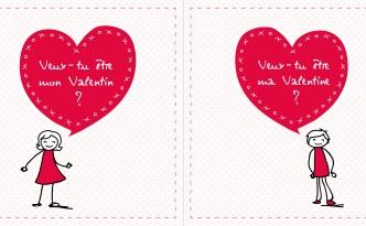 cartes à offrir St Valentin -be-my-valentine
