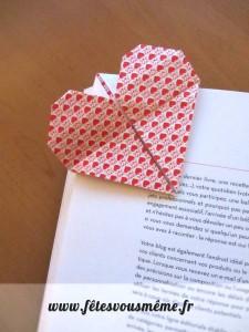 Marque page coeur St Valentin - Fêtes vous même