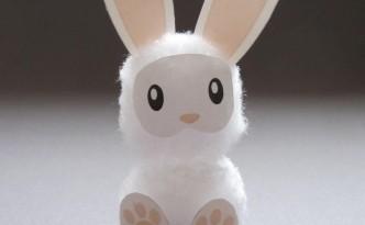Lapin de Pâques en coton - Fêtes vous même
