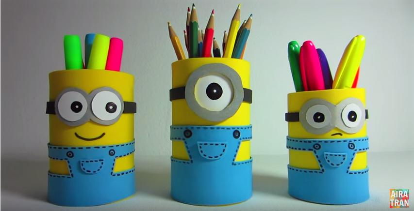 Superbe bricolage pot a crayons 3 f tes vous m me for Porte yaourt