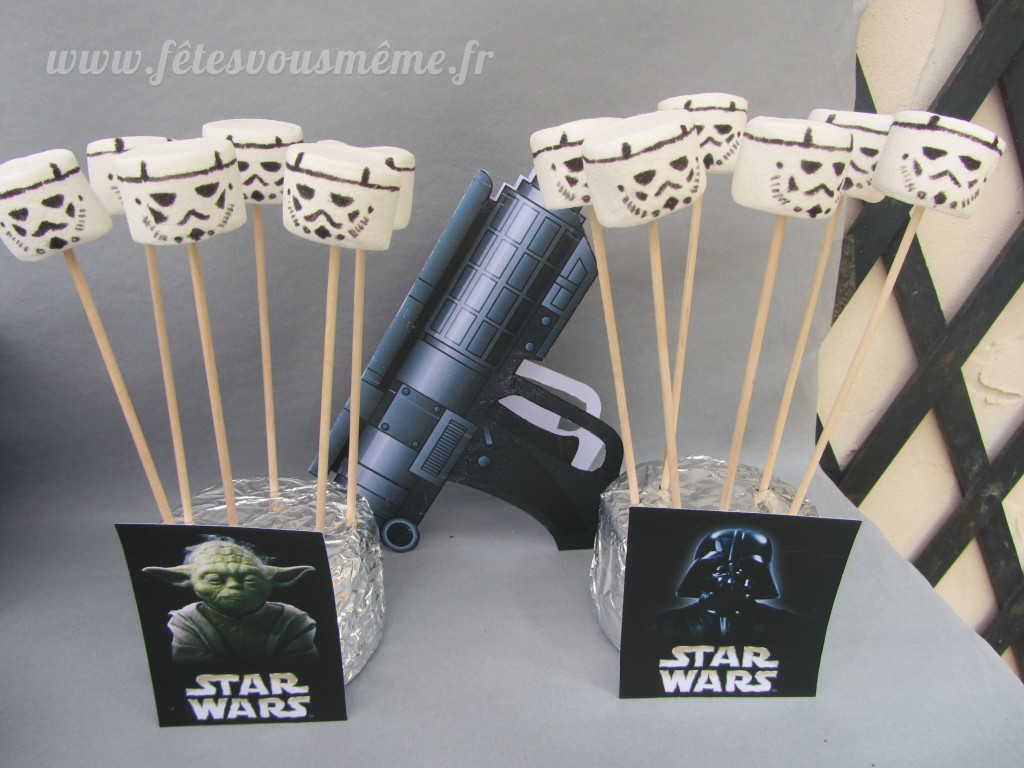 Table Gourmande Star Wars Stormtroppers Chamalows - Fêtes vous même