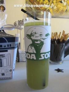 Table Gourmande thème Star Wars - Yoda Soda - Fêtes vous même
