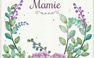 Carte Fête des Grands-Mères - thème floral - Fêtes vous même