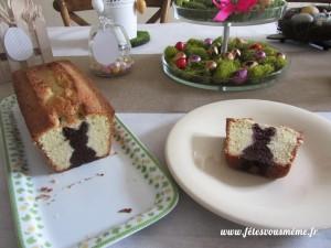 Gâteau caché lapin 1 - Fêtes vous même