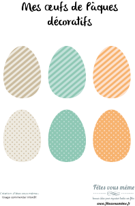 Oeufs de pâques pour décorer 2 - Fêtes vous même