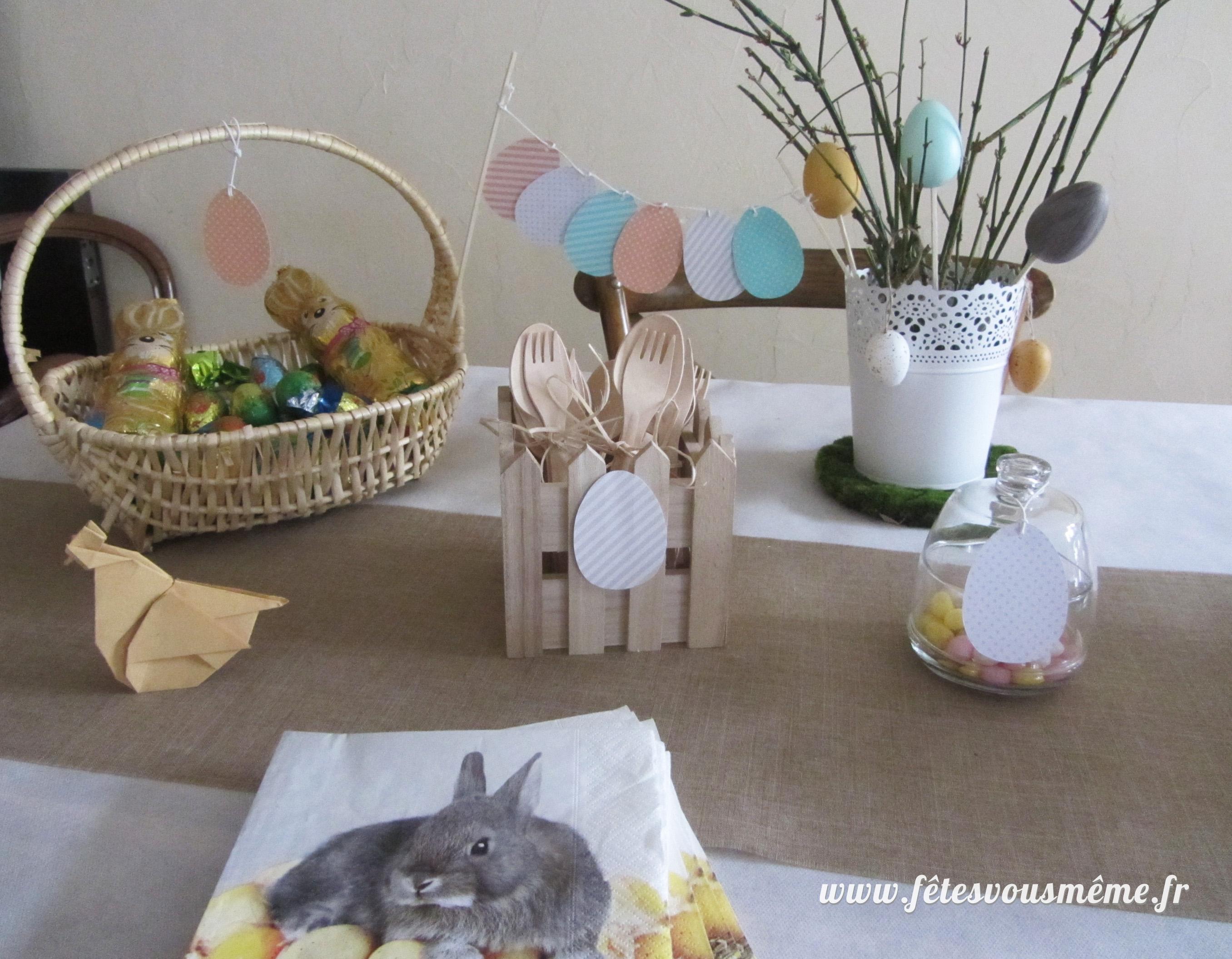 Deco de table paques a faire soi meme trendy dco de table - Decoration table paques faire soi meme ...
