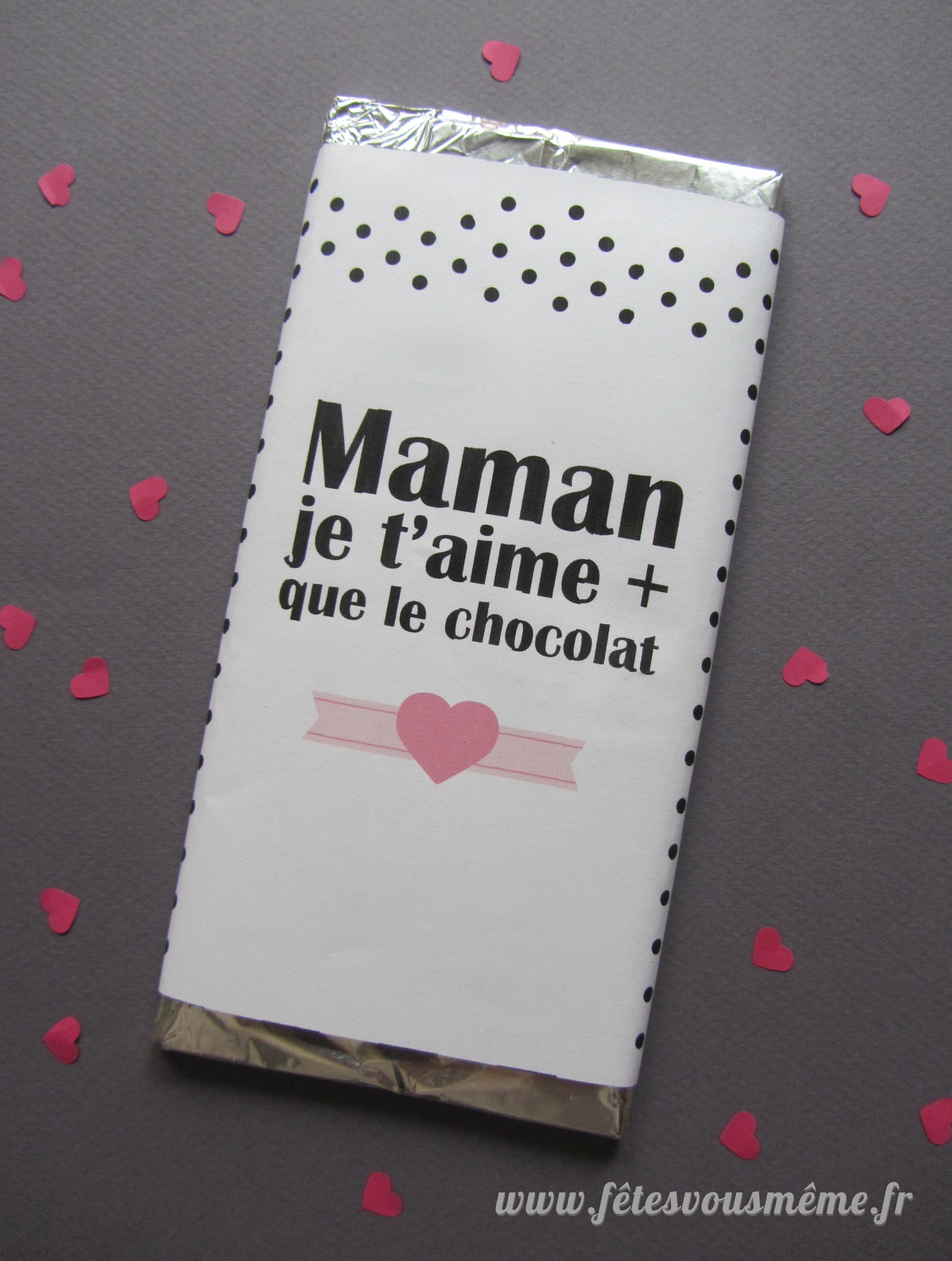 Emballage chocolat f te des m res f tes vous m me - Emballage tablette chocolat a imprimer gratuit ...