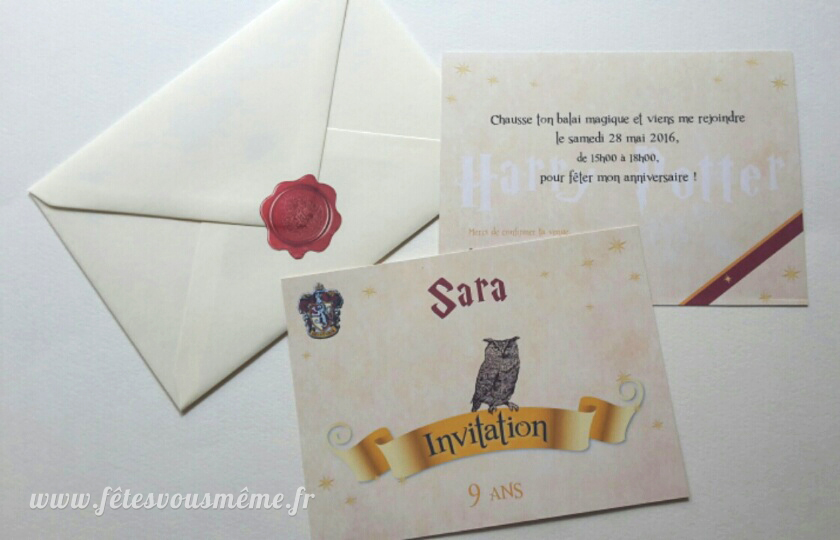 Invitation Harry Potter
