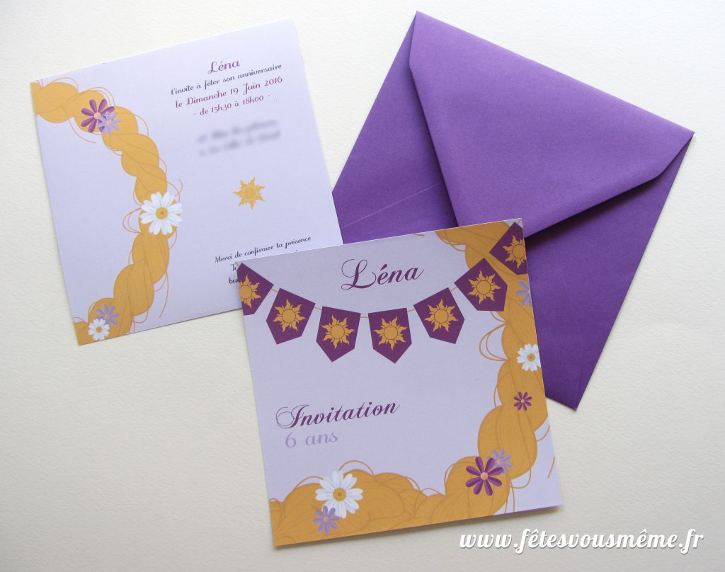 Invitation Raiponce