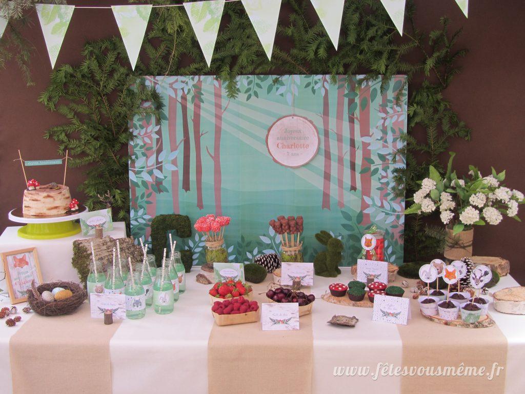 table Gourmande Thème forêt - Buffet - Fêtes vous même