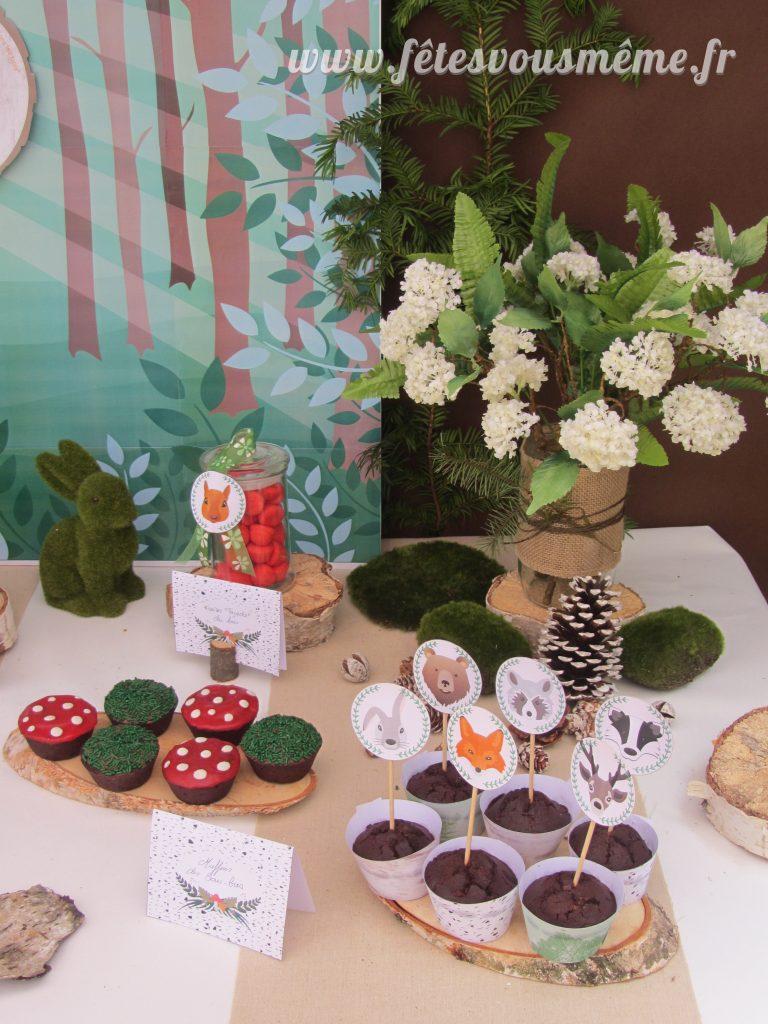 table Gourmande Thème forêt - Focus pâtisseries Fêtes vous même