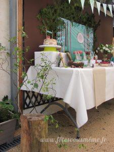 table Gourmande Thème forêt - Buffet côté 1- Fêtes vous même