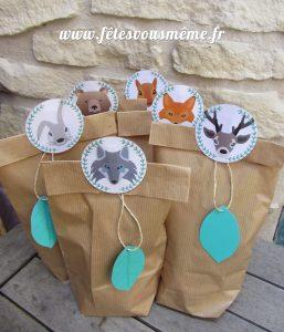 Cadeaux invités Thème Forêt 2 - Fêtes vous même