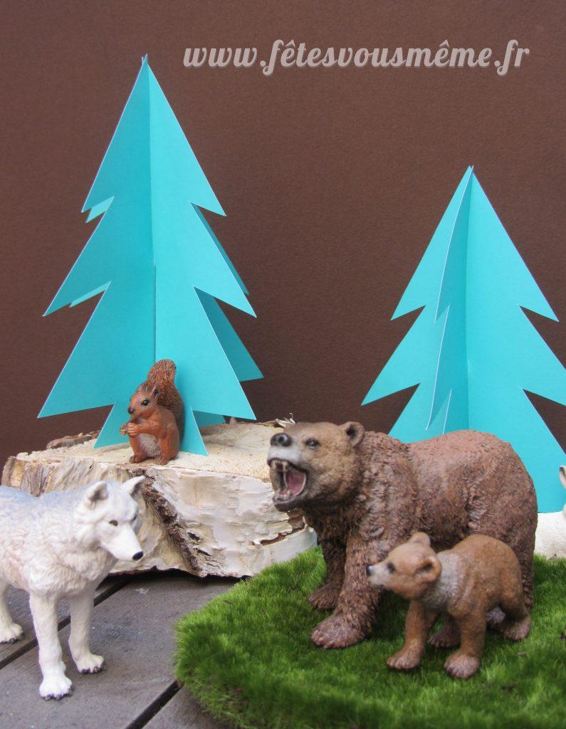 Décoration Thème Forêt - Animaux et Sapins - Fêtes vous même
