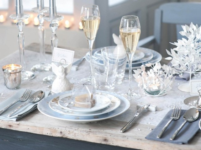 Votre th me d co de n el f tes vous m me - Decoration de table de noel blanche ...