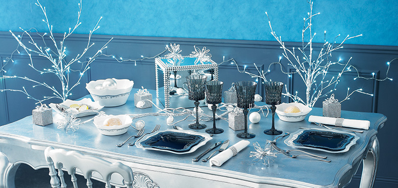 Votre th me d co de n el f tes vous m me for Decoration de table de noel argent