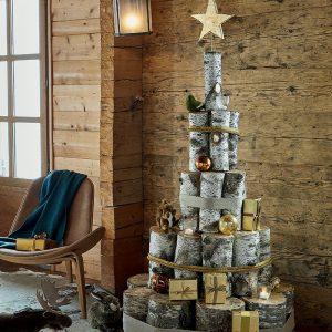 Sapin de Noël en rondins - Fêtes vous même