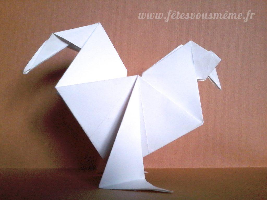 DIY Coq Origami - Fêtes vous même