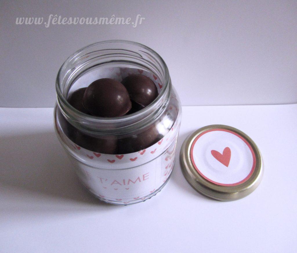 Bocal à chocolats Saint Valentin 2 - Fêtes vous même