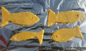 Biscuits Poissons d'Avril prêts à cuire - Fêtes vous même