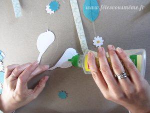 Mobile pour enfant Printemps - Collage 1 - Fêtes vous même
