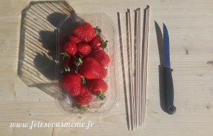 Bouquet gourmand de fraises - Matériel - Fêtes vous même