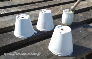 Aromates pour la Fête des Mères - séchage des pots - Fêtes vous même