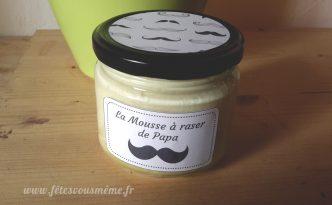 Mousse à raser Moustache - Fêtes vous même