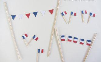Guirlande de drapeaux tricolores - Fêtes vous même