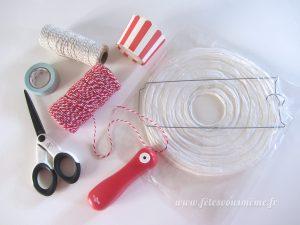 DIY Montgolfière - matériel - Fêtes vous même