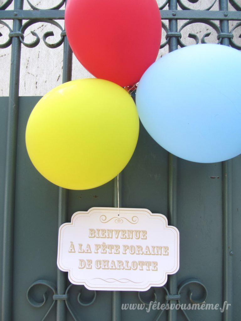Décoration Fête Foraine - pancarte porte - Fêtes vous même