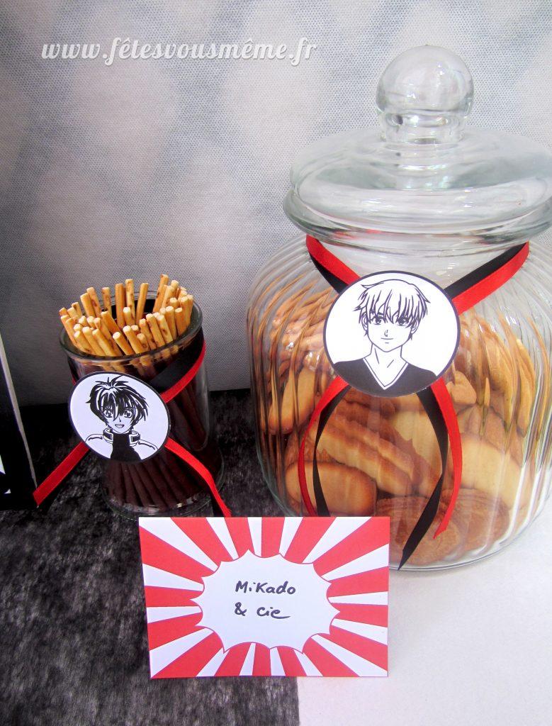 Biscuits Mikado - Table Gourmande Manga - Fêtes vous même