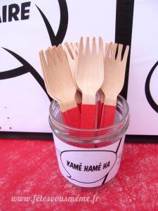 étiquettes et fourchettes - déco manga - Fêtes vous même