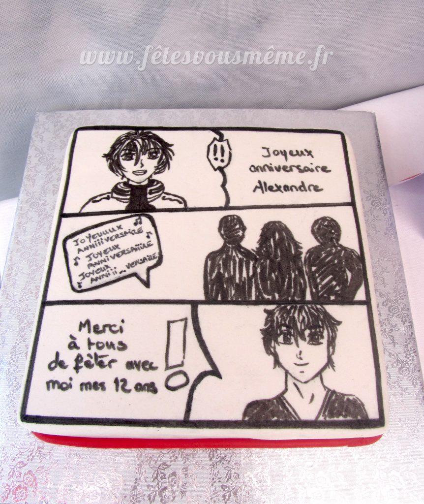 Déco Cake Design - Gâteau Manga - Fêtes vous même