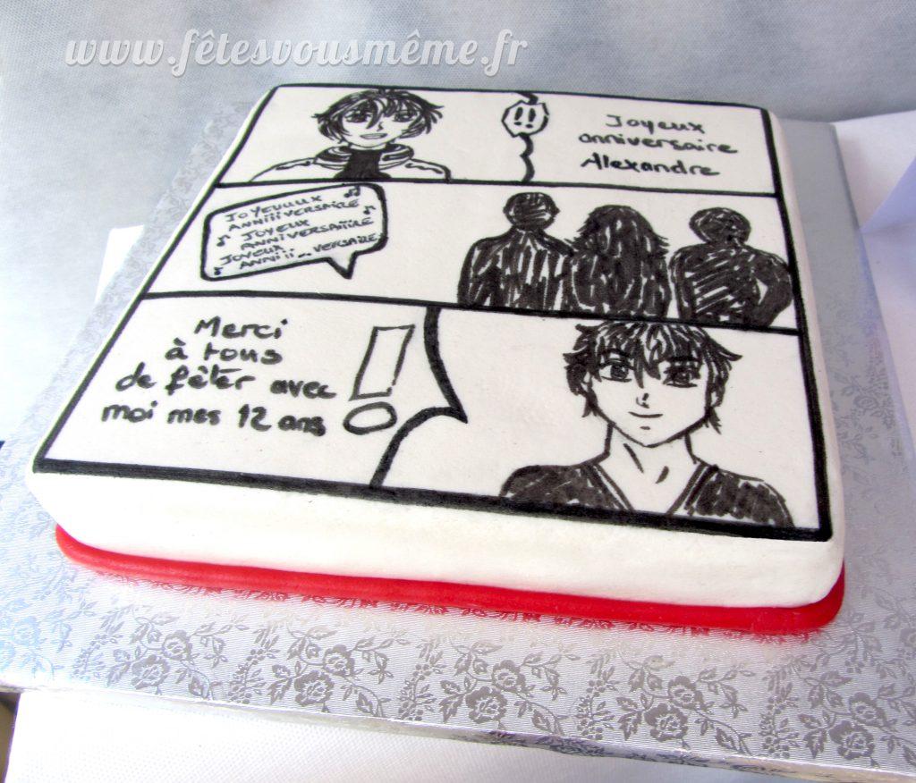 Gâteau Manga - Fêtes vous même