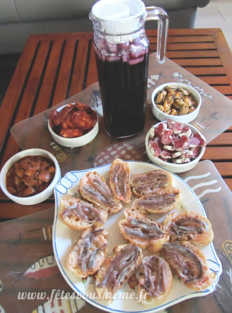 Tapas & Sangria - Thème Espagne - Fêtes vous même