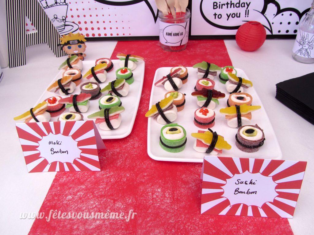 Makis & Sushis bonbons - Table Gourmande - Fêtes vous même