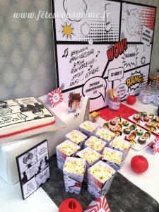 Table Gourmande Manga - boite à pop corn - Fêtes vous même