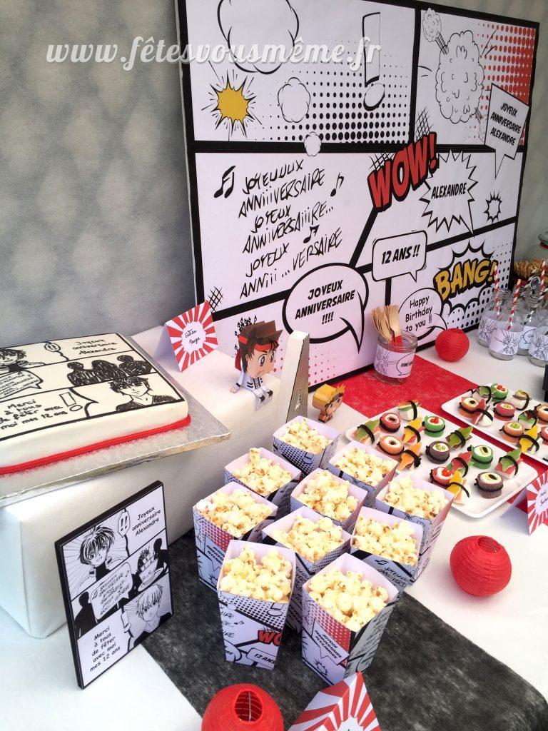 Kit déco Mange - détail Table Gourmande - Fêtes vous même
