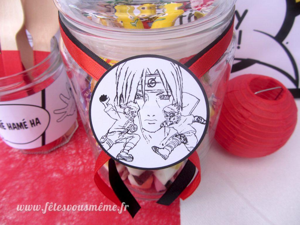 Naruto - étiquettes - Table Gourmande Manga - Fêtes vous même