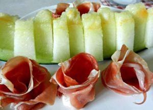 Melon espagnol et jambon - Tapas & Sangria - Fêtes vous même