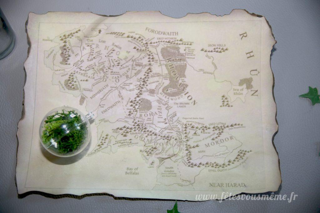 DIY Carte Terre du Milieu - Fêtes vous même