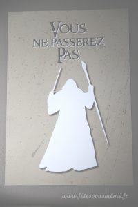 Kit déco Le Seigneur des Anneaux - pancarte de porte - Fêtes vous même