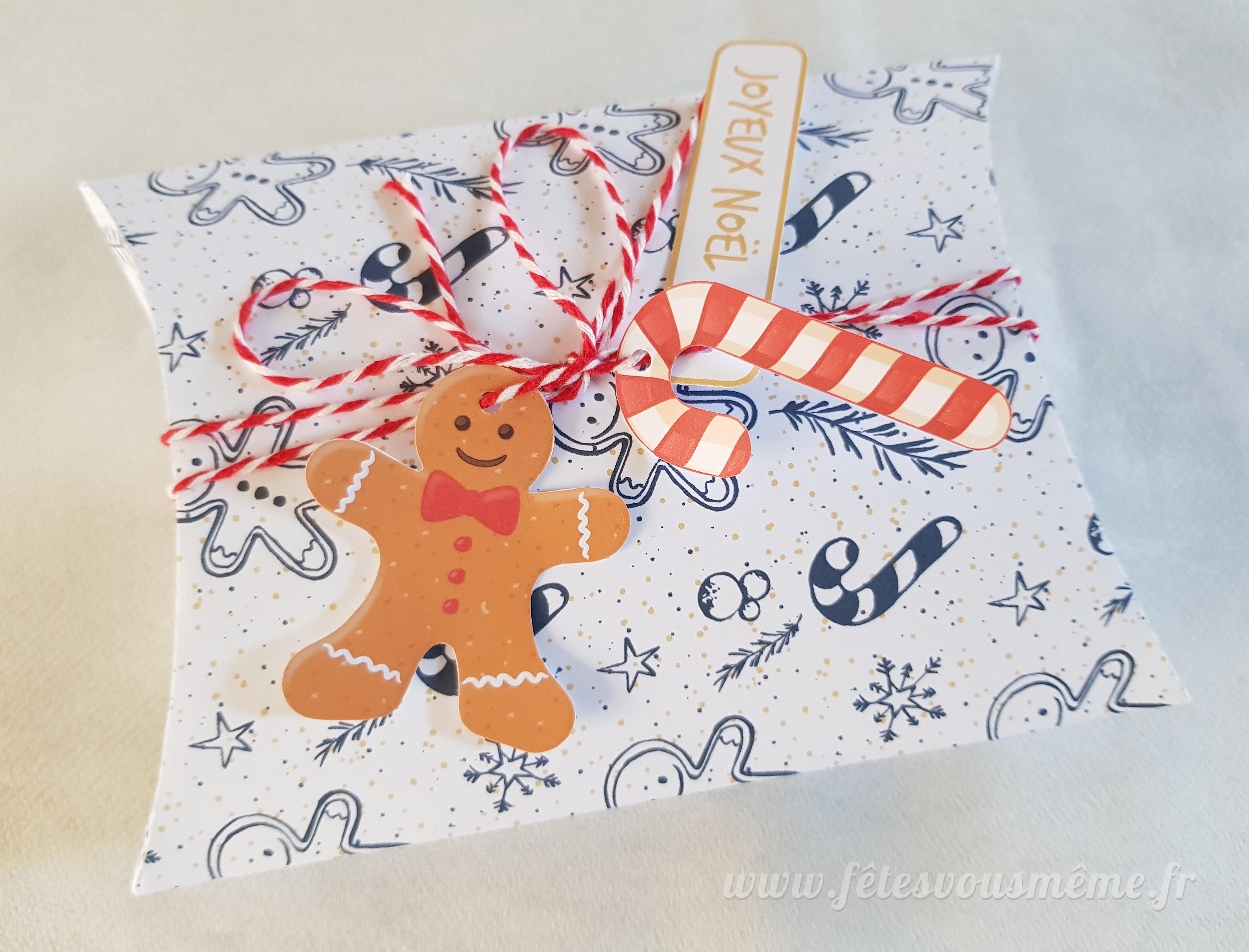 Boite Cadeau de Noël et ses étiquettes