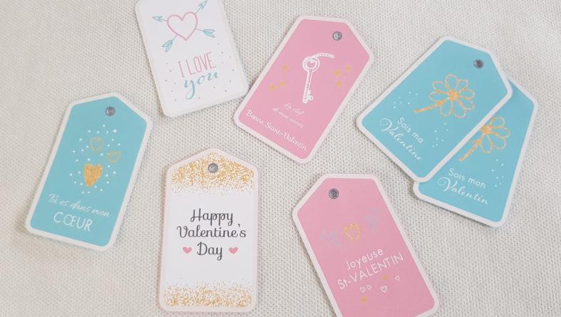 Etiquettes cadeaux Saint-Valentin